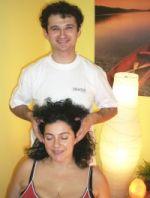 Indická masáž hlavy + antistresová masáž