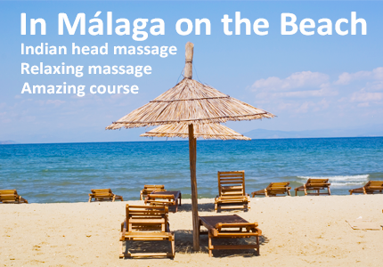 indian head massage course on the beach